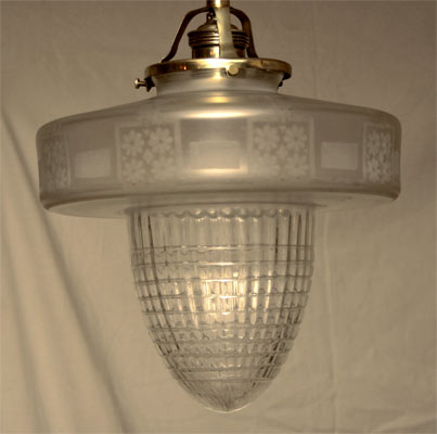 art deco h ngelampe glasschirm jugendstil deckenlampe. Black Bedroom Furniture Sets. Home Design Ideas
