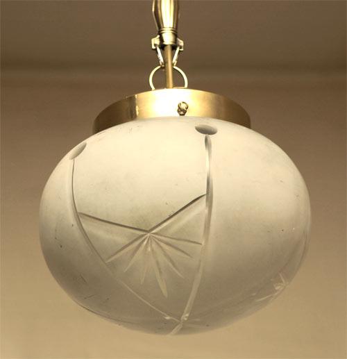 art deco h ngelampe messing lampe deckenlampe. Black Bedroom Furniture Sets. Home Design Ideas