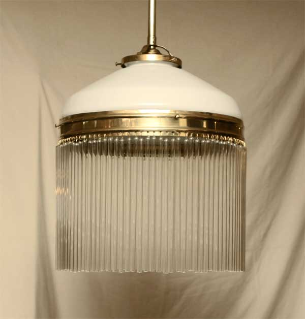 Art Deco Lampe Messing Haengelampe Leuchte