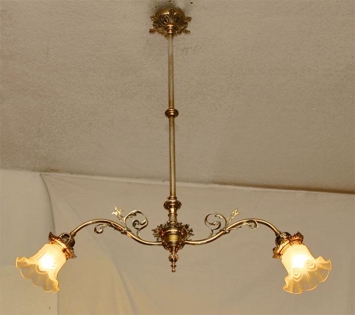 jugendstil luster messing lampe. Black Bedroom Furniture Sets. Home Design Ideas