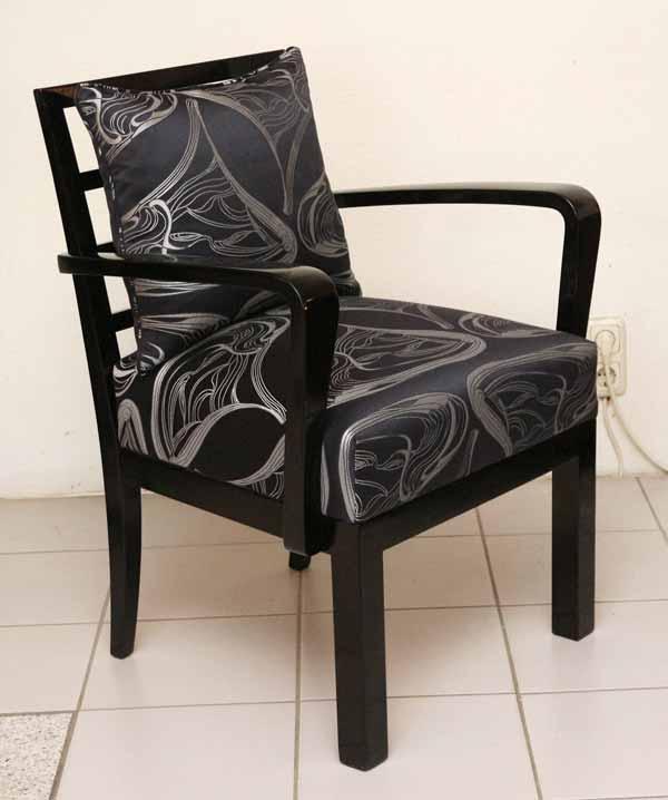 art deco fauteuil armlehnstuhl ernst fuchs. Black Bedroom Furniture Sets. Home Design Ideas