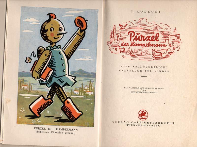 Purzel der Hampelmann Pinoccio nostalgisches Kinderbuch